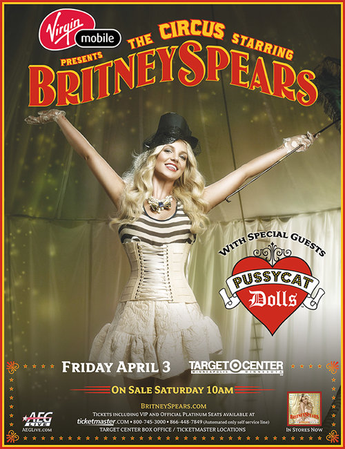 Britney Spears Announces Virgin Mobile as Official Tour Sponsor.