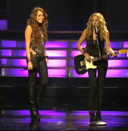 Miley Cyrus Duets With Sheryl Crow, Says Bye Bye to Disney