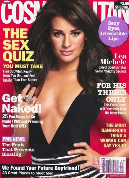 lea michele cosmopolitan photos. Glee#39;s Lea Michele is causing
