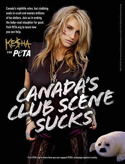Ke$ha Teams Up With PETA