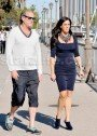 Millionaire Match Maker Patti Stanger And Robert Thorne Leaving A Business Meeting In LA