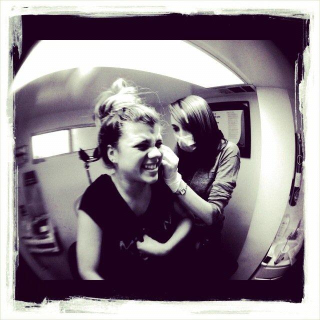 Nicole Richie Gets Little Sisters Ears Pierced