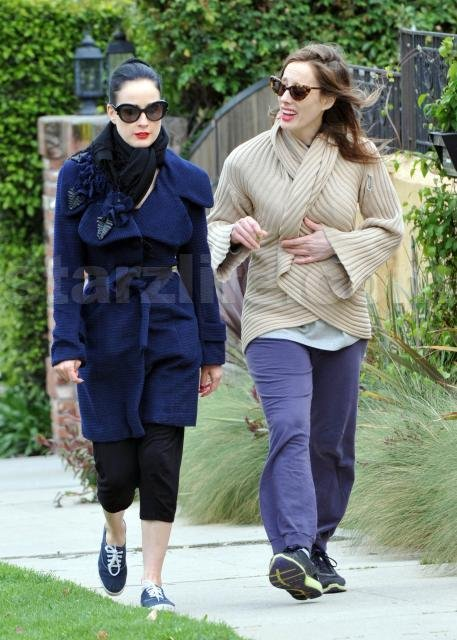 EXCLUSIVE!!! Dita Von Teese Bundles Up For The LA Freeze