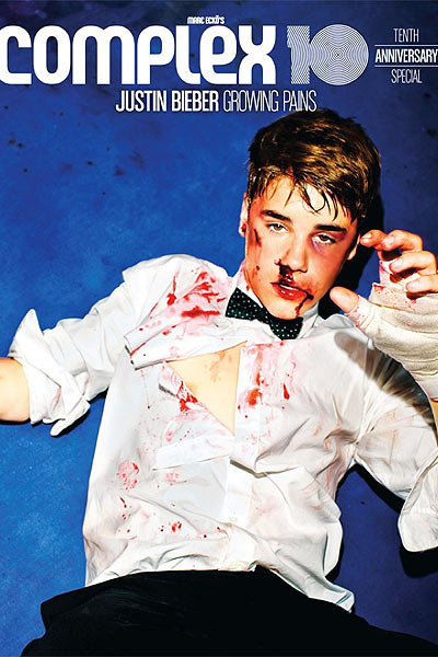 Busted Up Beiber Covers Complex Magazine