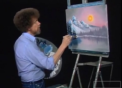 PBS Pays Tribute To Bob Ross With Joy of Painting Remix
