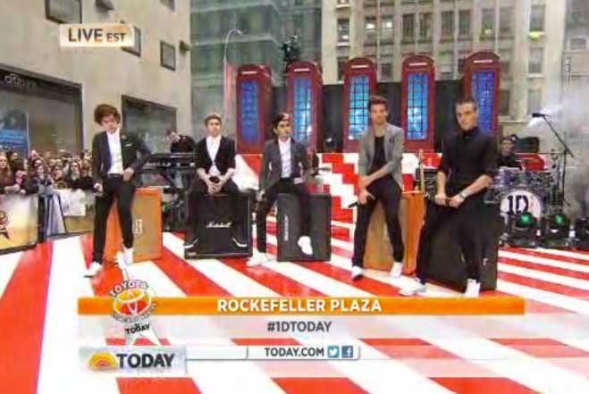 One Direction Clogs Rockefeller Center For Today Show Concert