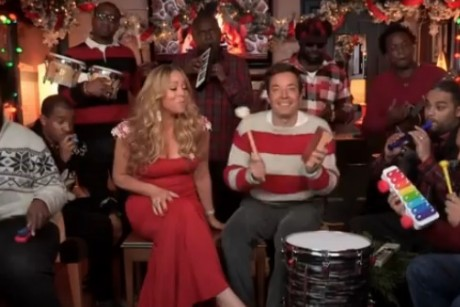 Mariah Carey Joins Jimmy Fallon To Perform Her Christmas Classic